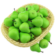 Gresorth 40pcs MINI Artificial Green Pear Decoration Fake Fruit Home Party Kitchen Food Photography Props