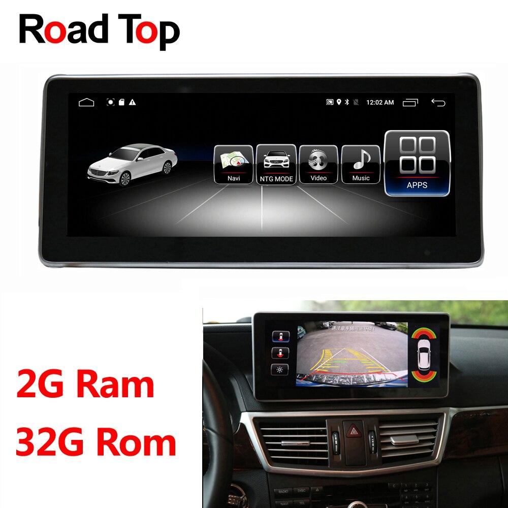 10.25 Android Affichage pour Mercedes Benz E W212 S212 2009-2016 Autoradio Multimédia Moniteur GPS Navigation Bluetooth tête Unité
