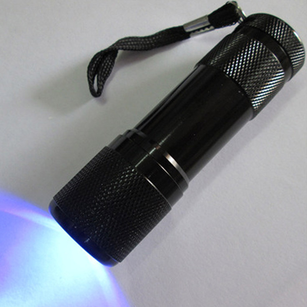 3AAA Battery UV Lamp 9 LED UV Flashlight Ultra Violet Light Ultraviolet Flashlight Ultra Violet Invisible Ink Marker Torch Light