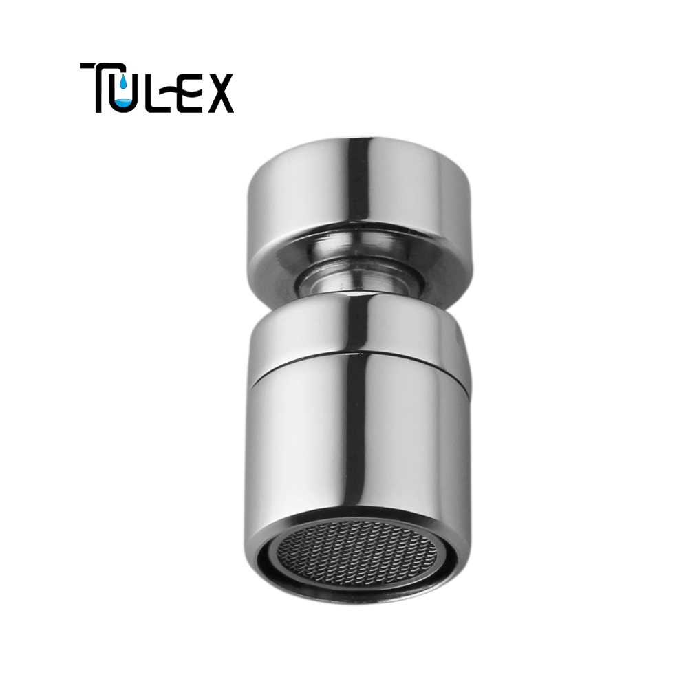 TULEX Water Saving 22MM Female Thread Faucet Swivel Aerator Spout Bubbler Accessory For Kitchen Brass Attachment On Crane
