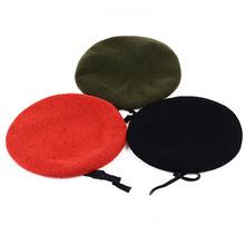 Mężczyźni i kobiety czysty wełniany beret kapelusz dla sił specjalnych żołnierze Death Squads trening wojskowy obóz kapelusze tanie tanio Berety COTTON Dla dorosłych Unisex Na co dzień Stałe BL055 TUNICA