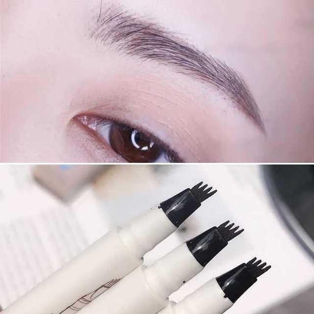 Waterproof Microblading Pen Paint For Eyebrow Tattoo Pen 4 Heads Liquid Eye Brow Makeup Ink Pencil Beauty Cosmetic Long Lasting 4