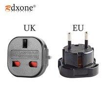 Rdxone reino unido para ue plug adaptador plug conversor 2 pinos tomada de parede para o reino unido para ue adaptador de carregador de viagem