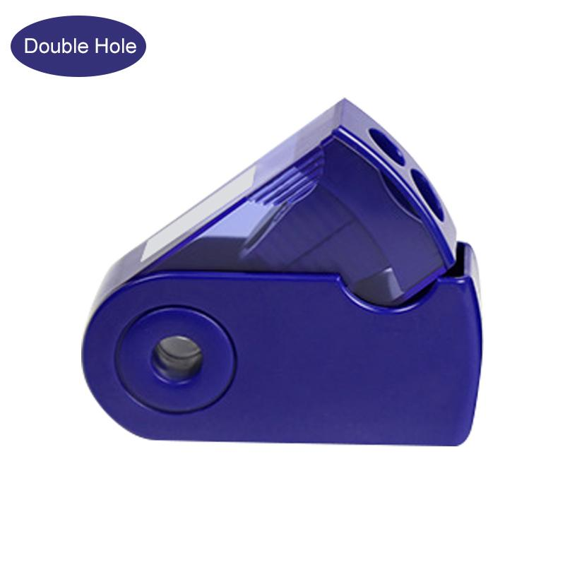 Single And Double Holes Pencil Sharpener Colorful Pocket Exquisite Sharpen Pen Tool Office School Student Stationery
