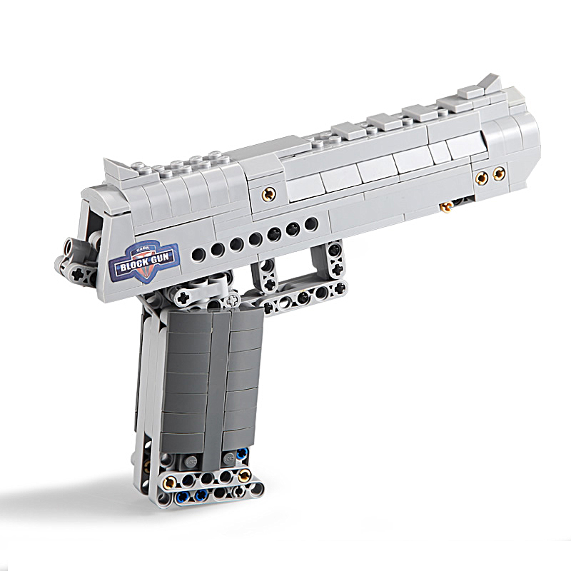 Building Blocks Toy Kit Desert Eagle toy gun for boys fire bullets Technic  DIY bricks Pistol UZI toys for children kids 4