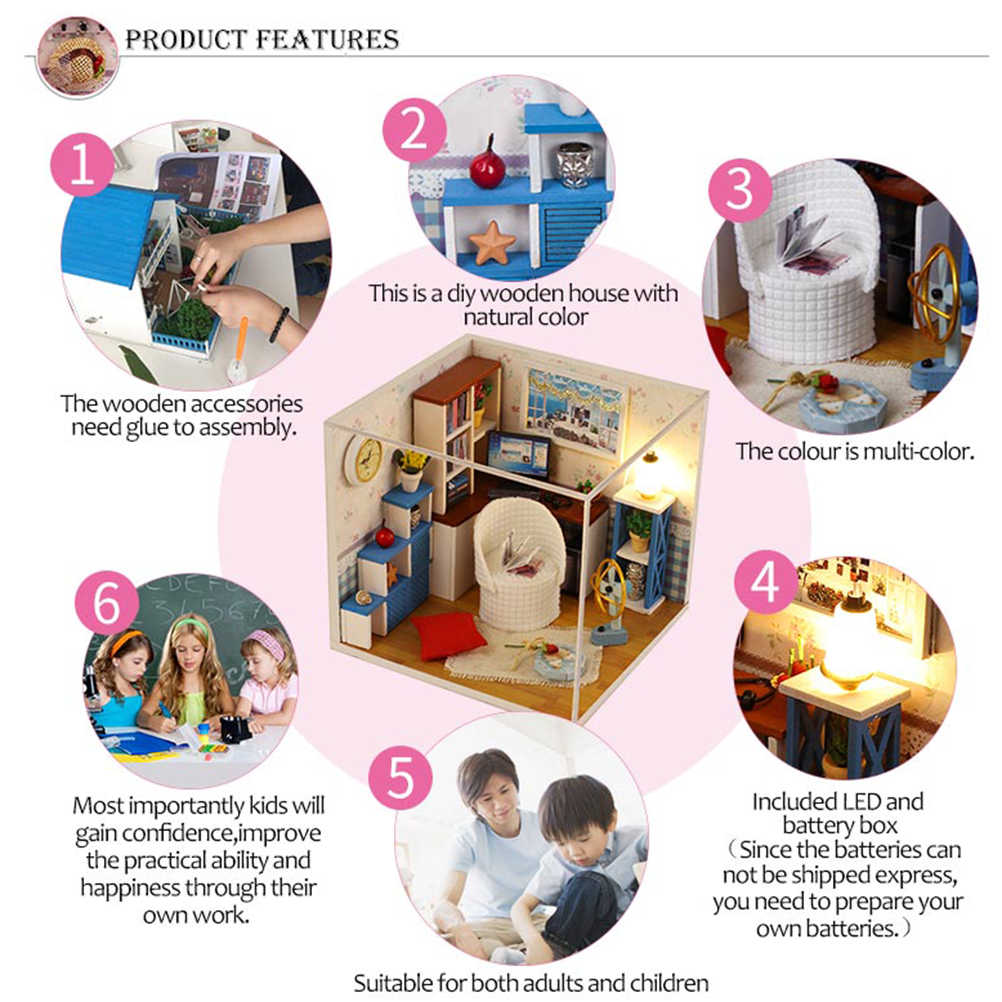 Leuke DIY Huis Mini Delicate Schattige Kit Miniatuur Crafting Handgemaakte Model Kamer Mooie Model Educatief Speelgoed Houten Huis