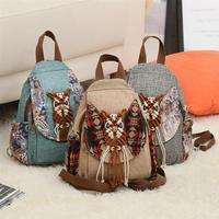Vintage Geometrical Pattern Handmade School Backpack For Girls Teenage Retro Tribe Women Female Backpack Mochila Feminina
