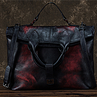 High Quality Natural Skin Women Messenger Shoulder Bag Vintage Leisure Cross Body Tote Handbag Top Handle Genuine Leather Bags