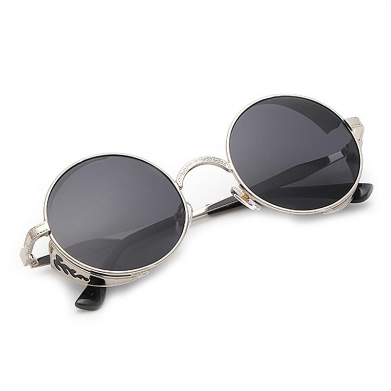 Steampunk gafas de sol Retro de moda gafas de sol redondas de Metal Marco de gafas de sol de moda de los hombres accesorios gafas