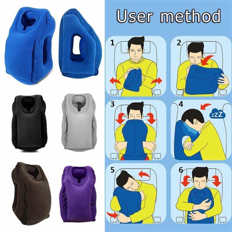 USHIO XC Yang Paling Beragam & Inovatif Pijakan Kaki Penerbangan Bantal Leher Perjalanan Bantal Tiup di Pesawat Untuk Anak-anak Tidur Mudah