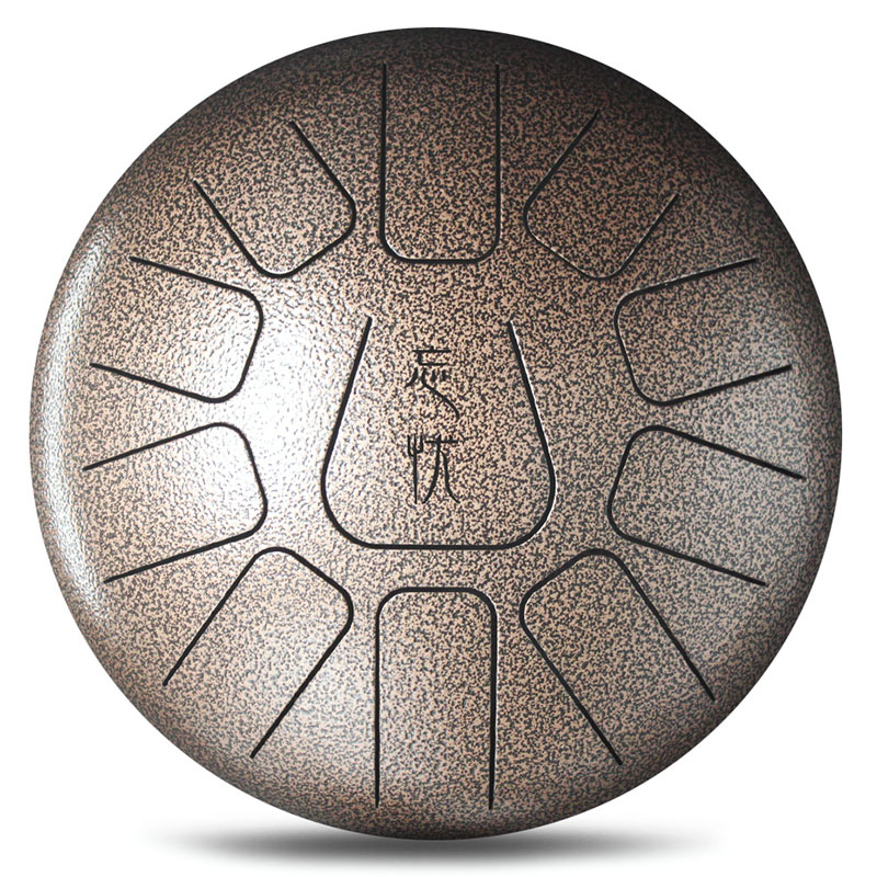 12 Inch Mini 11 Tone Steel Tongue Percussion Drum Handpan Instrument With Drum Toy Musical Instrument - 4