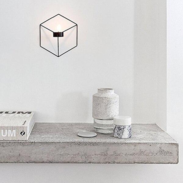 3d Geometrische Kandelaar, Muur Gemonteerde Metalen Kandelaar, Muur Ornamenten (kaarshouder 7 #)