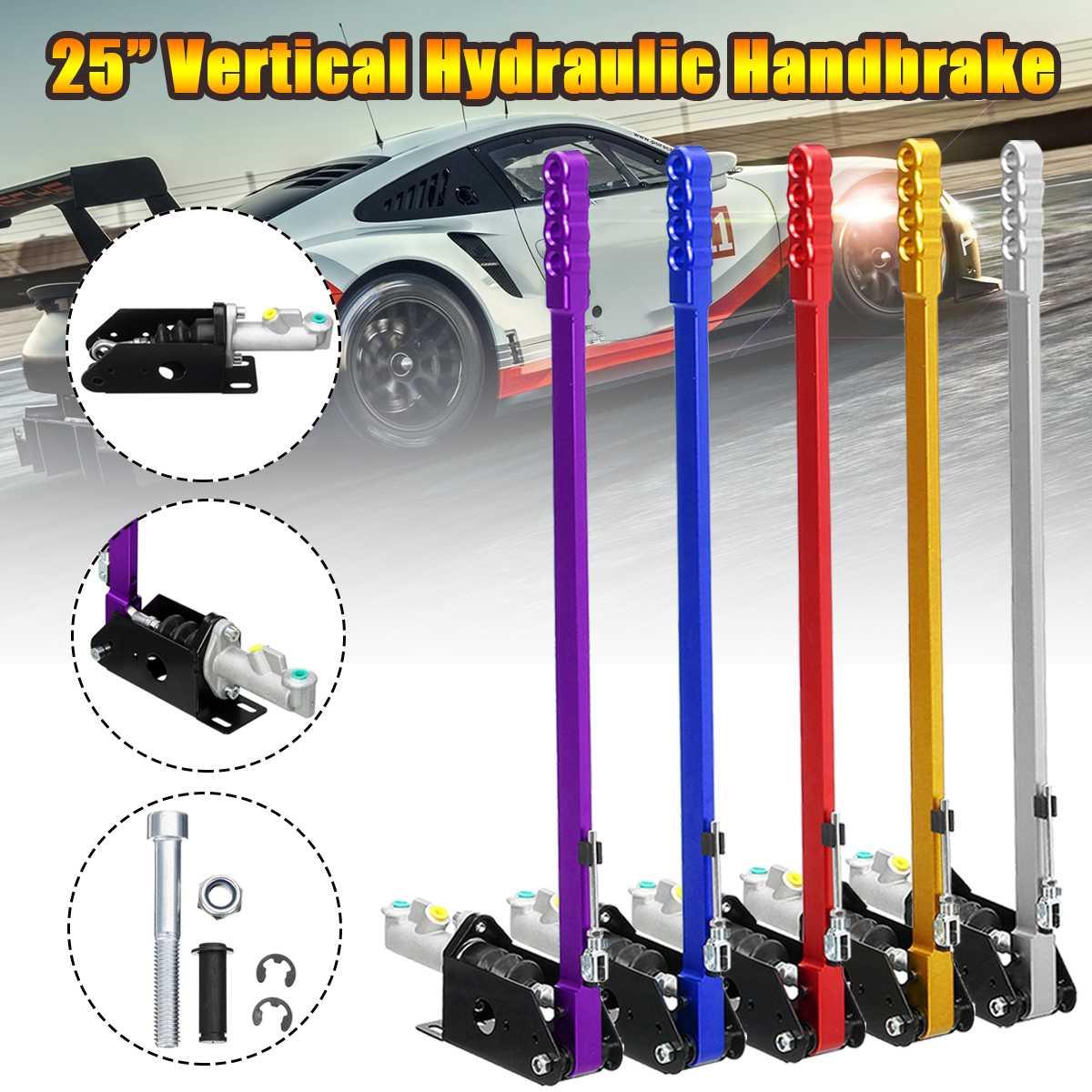 25inch 63cm Long Vertical Hydraulic Handbrake Hydro Race E brake Drift Rally Lever Gear
