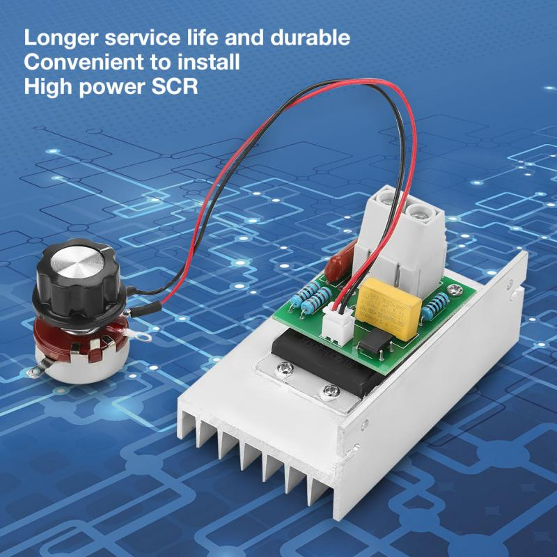 SCR Electric Voltage Regulator,Dimmer Motor Speed Controller,Temperature Controller AC Voltage Controller 6000W 220V for Controlling Light Brightness or Speed.
