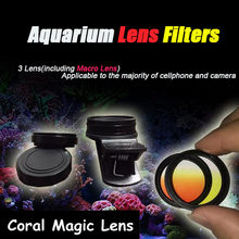 Objectif pour Aquarium de poissons, récif de corail, caméra de téléphone, filtres + 1 Macro, accessoires de Terrarium aquatique