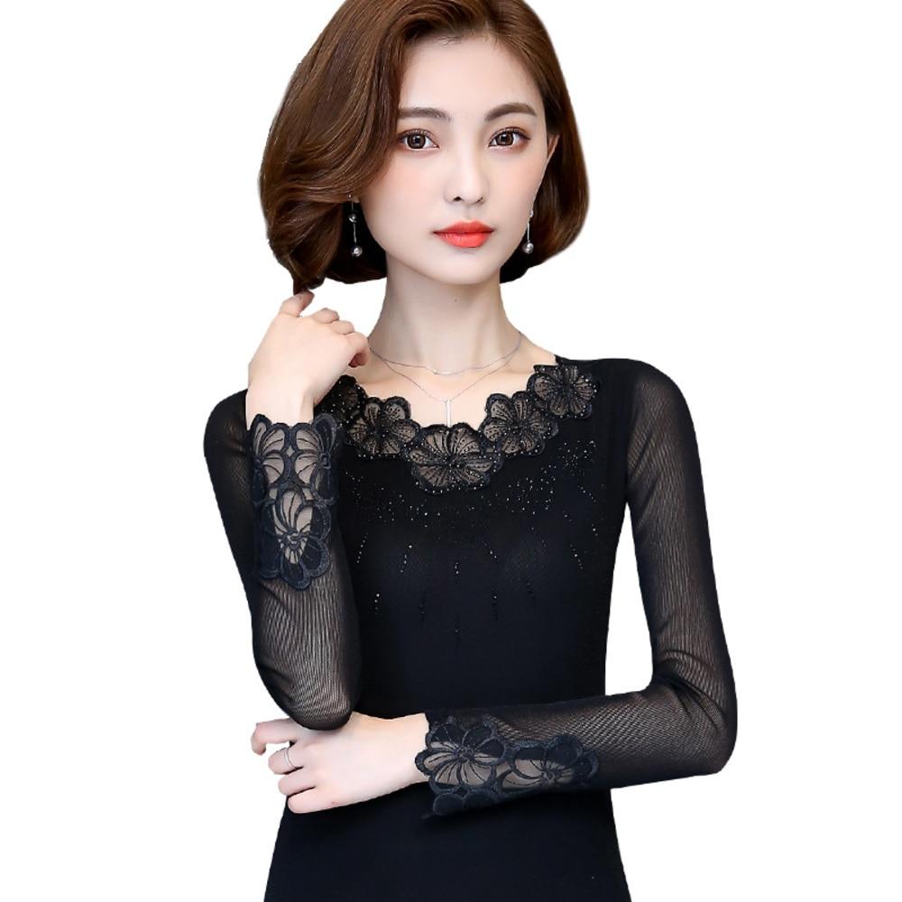 Work Wear Black Blouse Tops Plus Size Long Sleeve O-Neck Elegant Ladies Shirts 2019 Spring Summer Office Lady Blouse Blusas