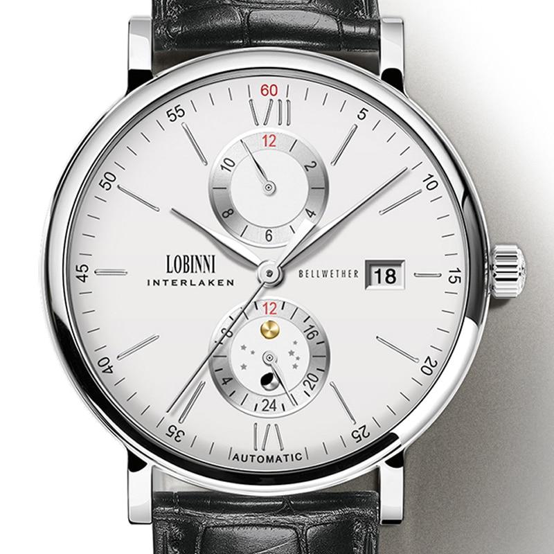 LOBINNI Mannen Horloges Luxe Merk polshorloge Japan Import Automatische Mechanische MOVT Horloge Mannen Sapphire relogio masculino L1017 2-in Mechanische Horloges van Horloges op  Groep 1