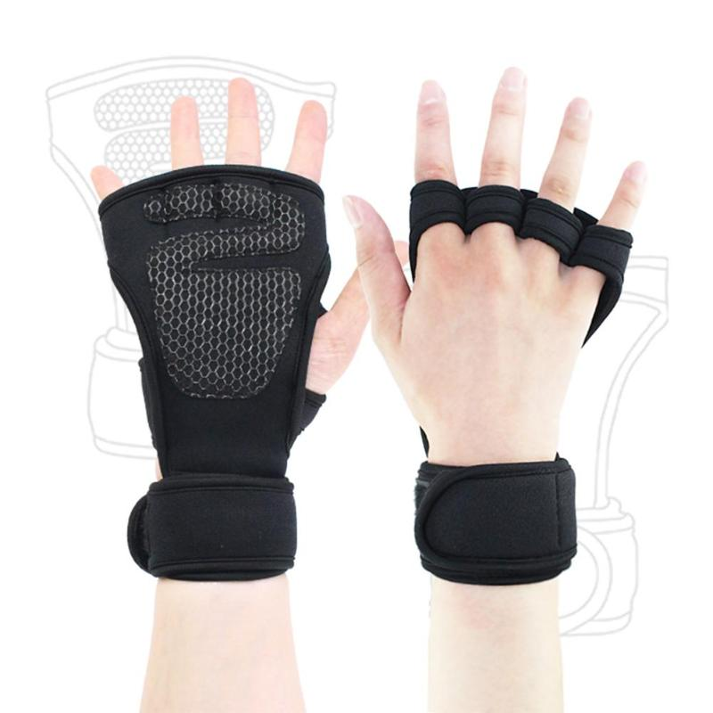 Weight Lifting Gloves Fitness Gym Training Palm Protection ...