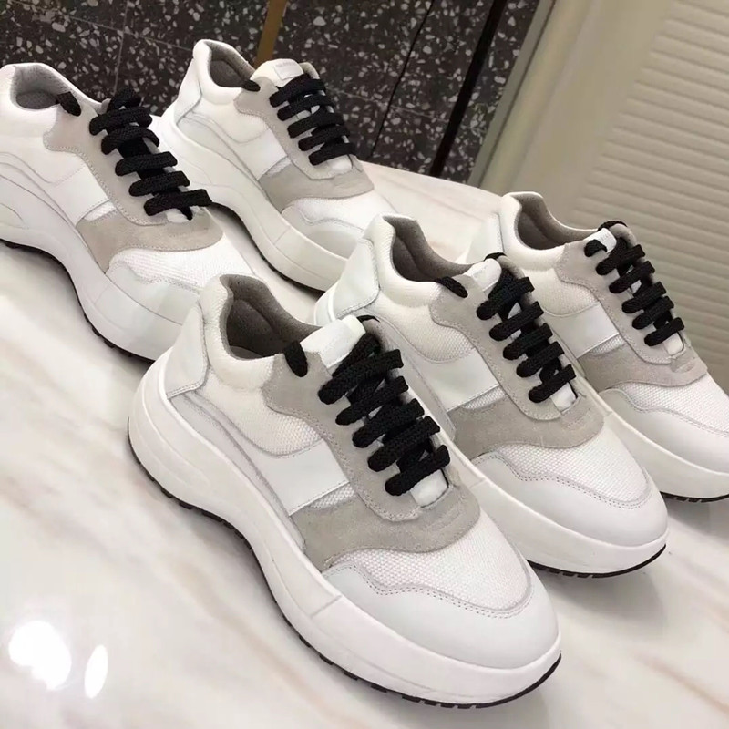 Supper Fashion Chunky Platform Genuine Leather And Suede Lace Up Casual Shoes For Womens High Heels White Women ShoesSupper Fashion Chunky Platform Genuine Leather And Suede Lace Up Casual Shoes For Womens High Heels White Women Shoes