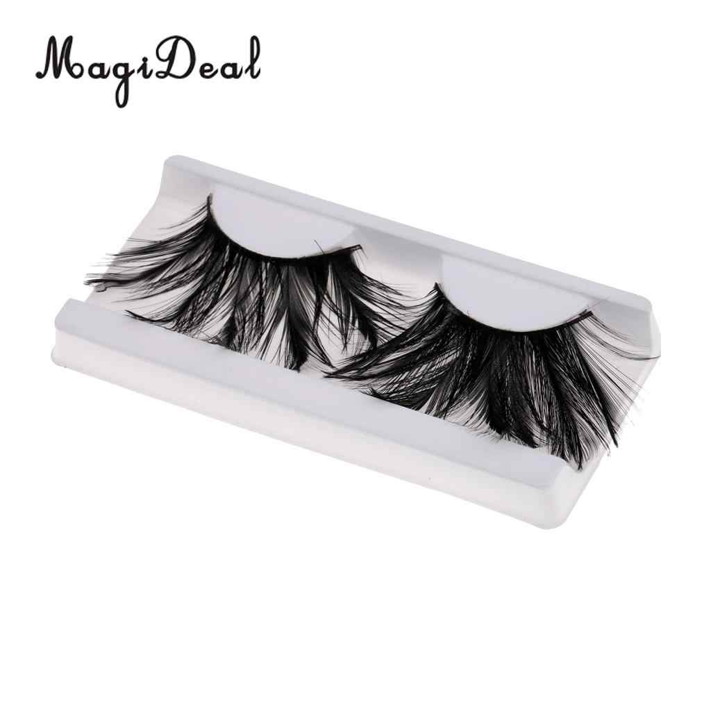605fbef3295 Exaggeration style 3D Feather Eyelashes Extra Extension Theater Art Show  Party Halloween Costume Eye Lashes Makeup