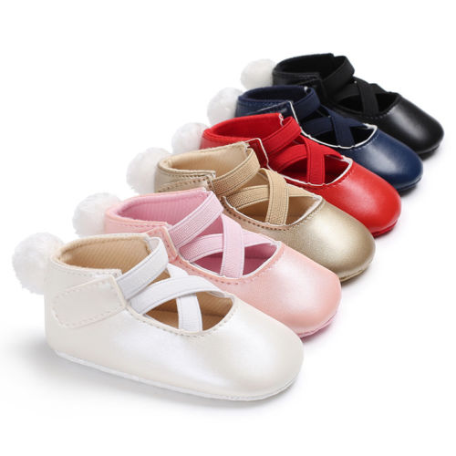 Girls Sneakers Crib-Shoes Soft-Sole Toddler Party Newborn-Baby Infant Bow Non-Slip 0-18M