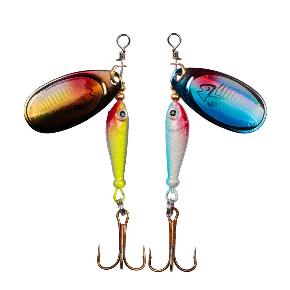 Señuelo LUSHAZER cucharilla de pesca 9g cuchara señuelo metal cebos triples gancho isca peces artificiales wobbler alimentador carpa spinnerbait