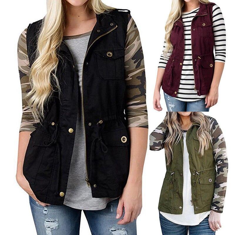 50c3fcf9c1a68 Women New Solid Winter Sleeveless Waistcoat Jacket Blazer Vest Casaul Coat  Gilet Tops Bodywarmer