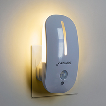 Sensky 110V 220V AC Body PIR Infrared Motion Sensor LED Night Light with light Sensor lumina for kids bedroom Lamp