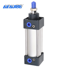 Standard Air Cylinders 32/40/63mm Bore Double Acting Pneumatic Cylinder SC 50/75/100/125/150/175/200/250/300mm Stroke цены