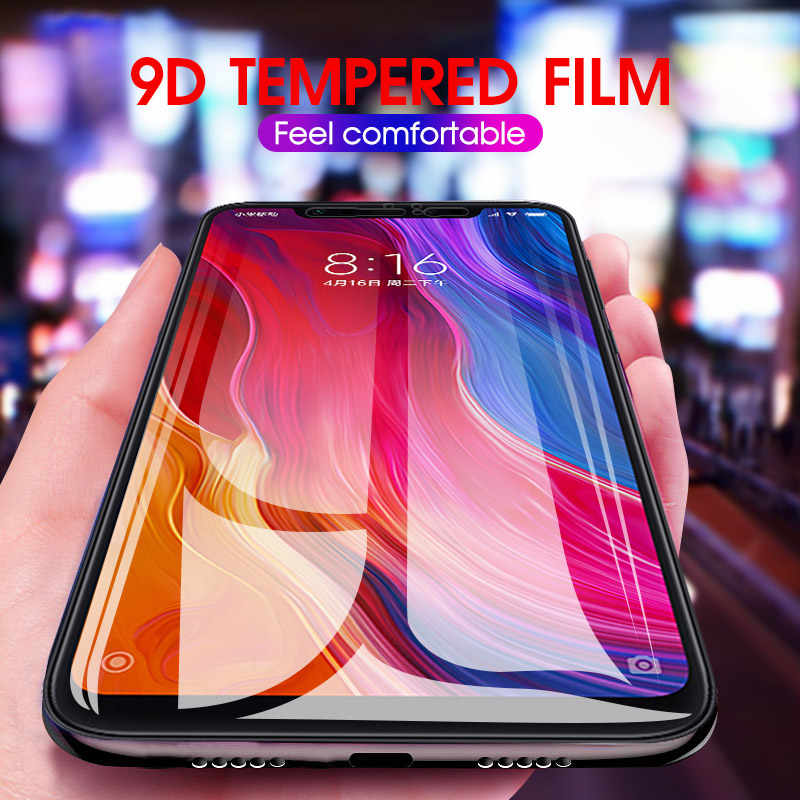 9D Full Cover Tempered Glass Screen Protector For Xiaomi Mi 6X 8 A2 Lite A1 Glass On Redm Note 5 7 6 Pro 5 Plus Protective Glass