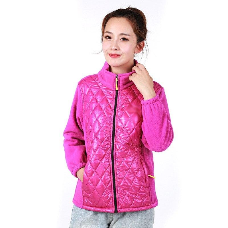 Autumn Winter Fashion Women Fleece Sweatshirt Casual Plus Size Cardigans Coat Outwear Long Sleeve Warm Patchwork Coat