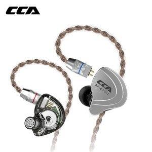 Image 2 - Cca C10 4ba + 1ddハイブリッドで耳イヤホンハイファイdj monitoランニングスポーツイヤホン5ドライブユニットヘッドセットノイズキャンセルイヤフォン