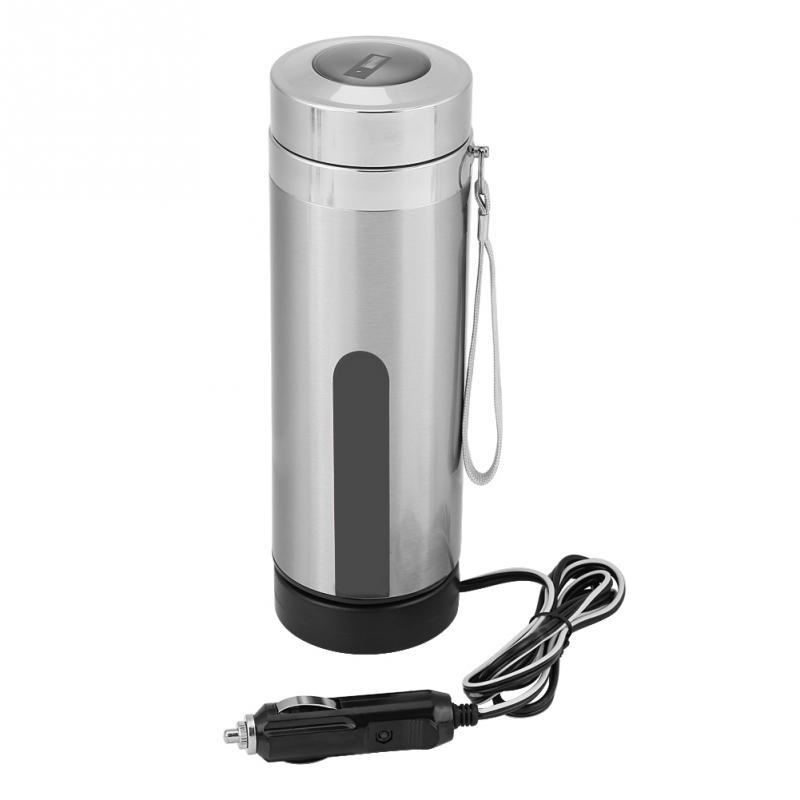 12v 80w 320ml Car Electric Kettle Hot Water Boiling Cup Travel Truck Thermal Insulation Heating