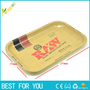 1pc RAW iron plate storage tray Cigarette essential accessories RAW rolling trays 34.2*27.8cm useful kitchen tool