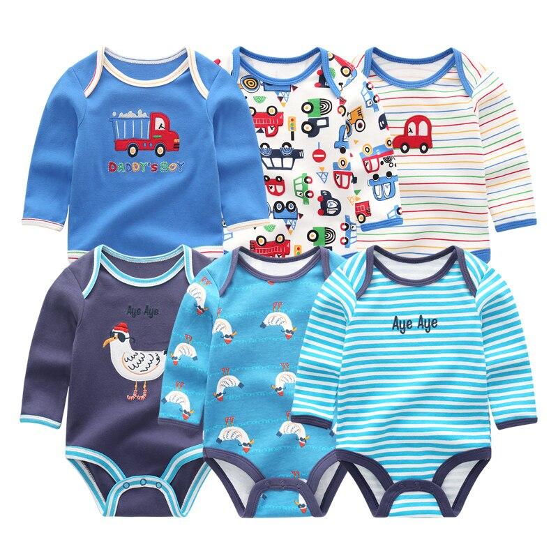 Image 2 - Одежда для маленьких девочек, боди с единорогами, одежда для маленьких мальчиков 0 12 месяцев, комбинезон в полоску, хлопковая одежда для новорожденных, одежда для девочекБоди для малышек   -
