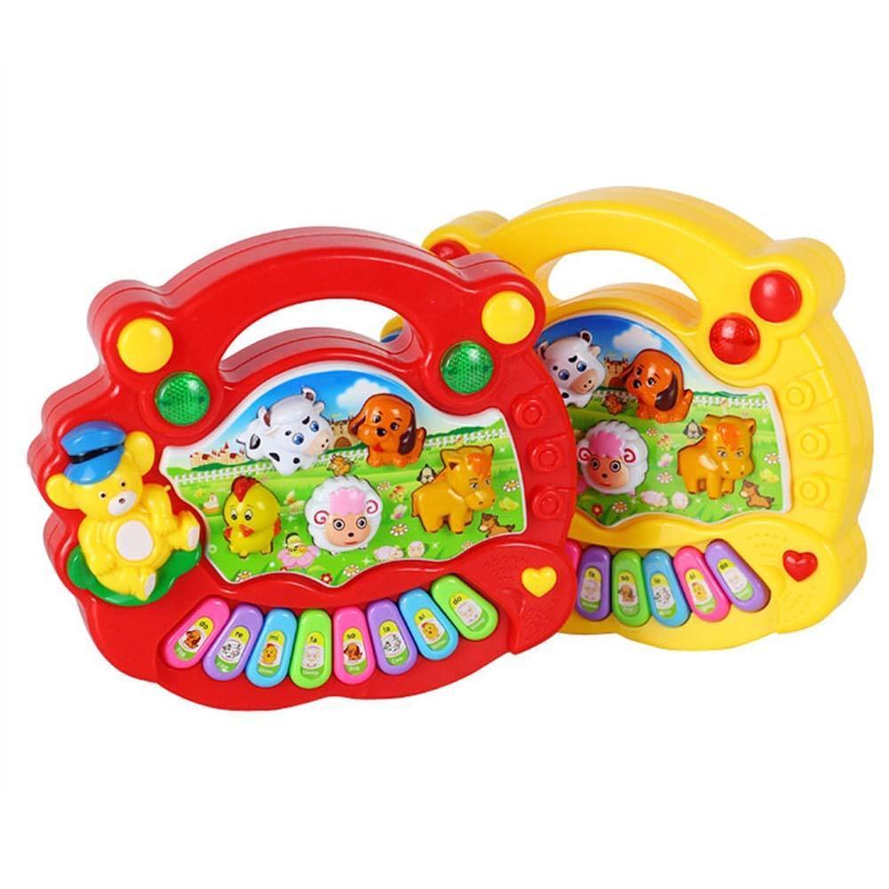 Bebé desarrollo de niños música educativa Animal Musical granja Piano juguete sonido teclado de sonido Piano bebé tipo de juego 2019 SpongeBobinglys música piña casa Patricio Star edificio educación en bloques figuras juguetes niños regalos de cumpleaños