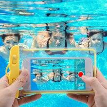 Caseier водонепроницаемый чехол для iPhone 7 Plus X XS летняя прозрачная фотография защитный аксессуар для подводного плаванья сумка сумки для huawei P20 mate 20