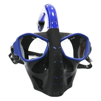 Easy Breathing Diving Mask Anti Leak Snorkeling Dry Silicone Safe Underwater Full Face Swimming Equipment Anti fog Adjustable