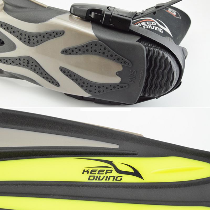 Garder la plongée FN-612 palmes longues réglables pour la plongée en apnée natation formation professionnelle - 5
