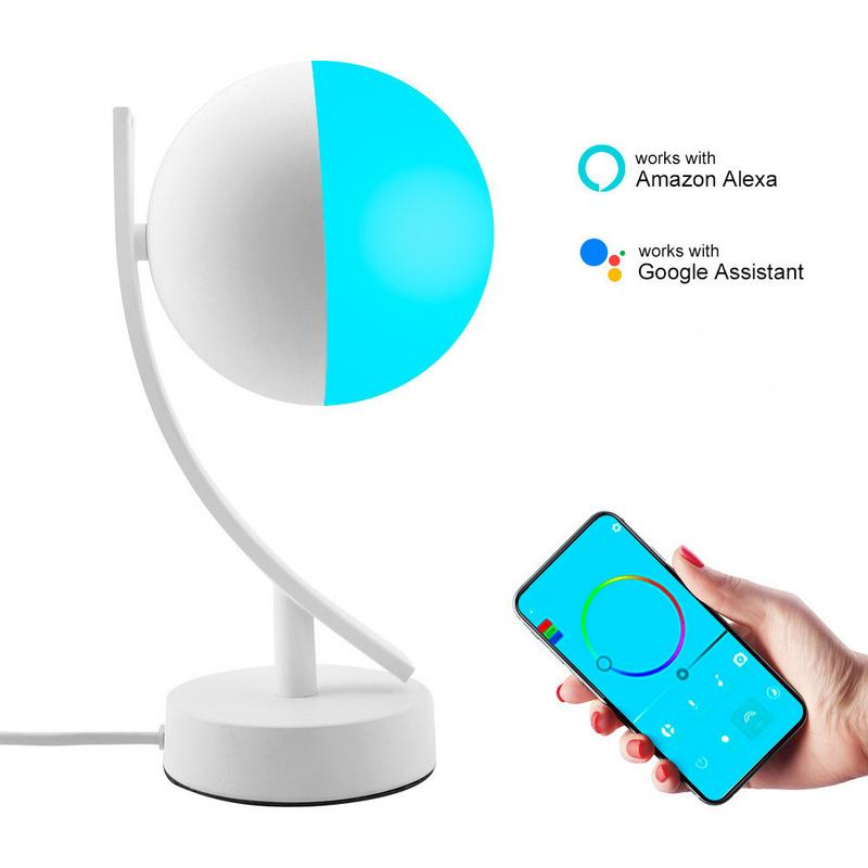 7W Led Smart Night Light RGB Wifi APP Remote Control Dimmable Table Light US EU Plug Google Home Amazon Alex Smart Desk Lamp