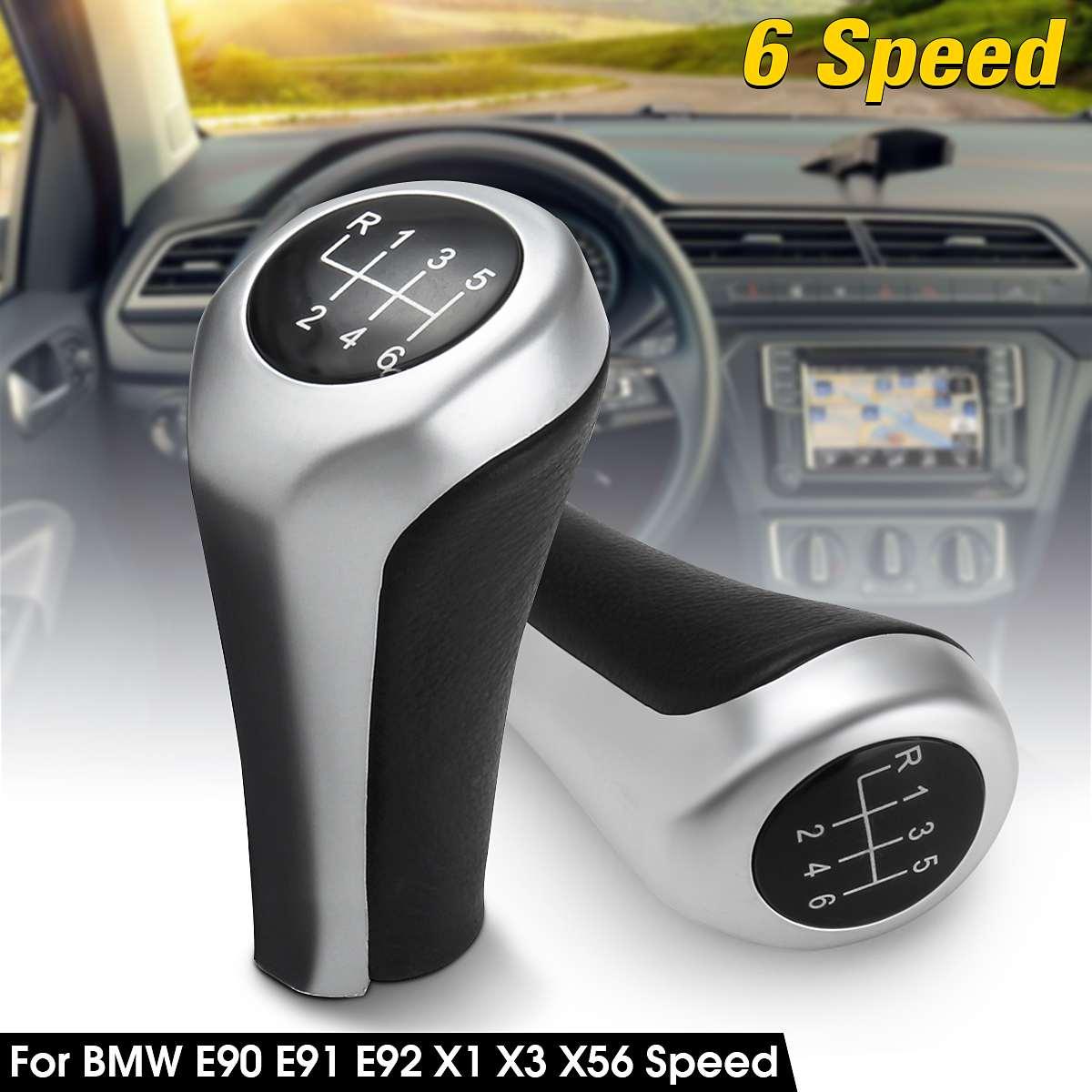 Carro de 6 velocidades botão shifter shifter para bmw e46 e90 e91 e92 x1 x3 x5