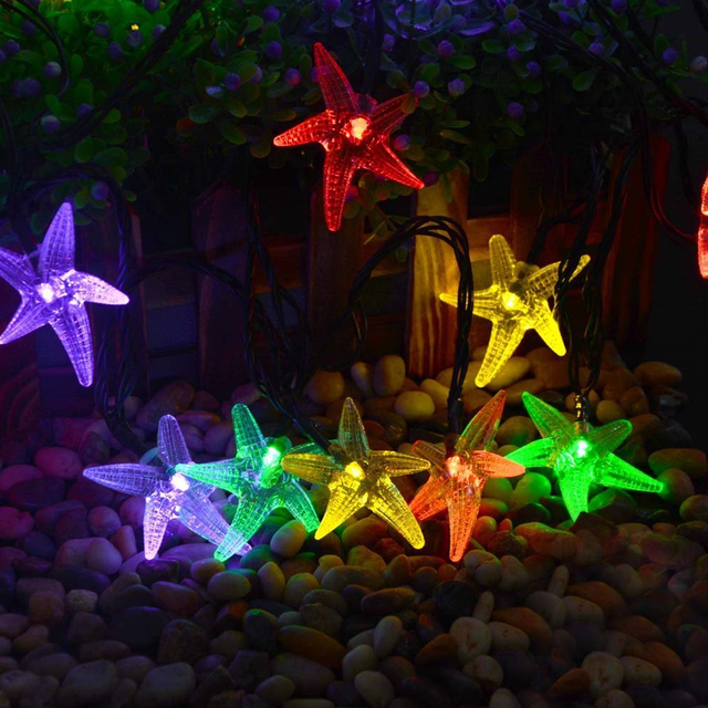 1.5M 3M 4M Starfish String Lights LED Fairy Garland Waterproof For Christmas Wedding Home Indoor Decoration Battery Type