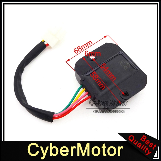 4 Pins Wire Male Plug Voltage Regulator Rectifier For GY6 50cc 125cc 150cc Engine Scooter Moped  Honda Motorcycle Motocross
