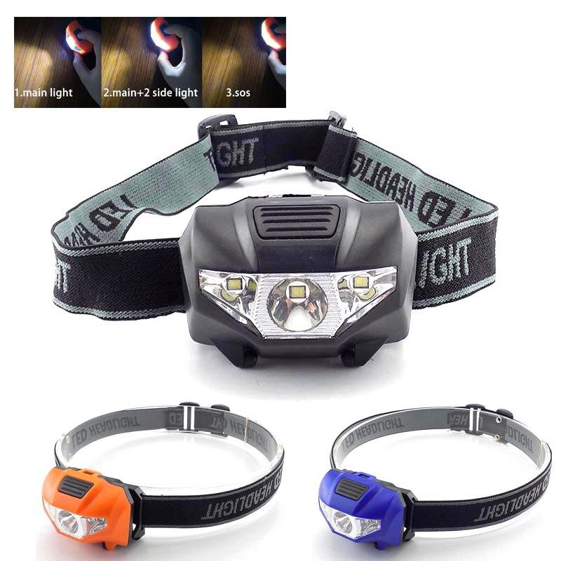 High Power Mini LED Headlamp AAA Battery Hoofdlamp Lantern Flashlight Headlight Head Light Torch Lamp Torches Lampe For Camping
