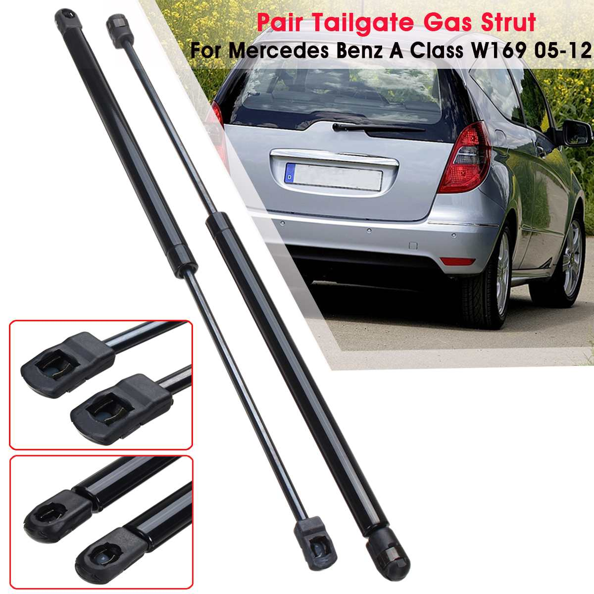 MERCEDES VIANO W639 2003-2010 2X REAR TAILGATE WITHOUT GLASS GAS STRUTS PAIR