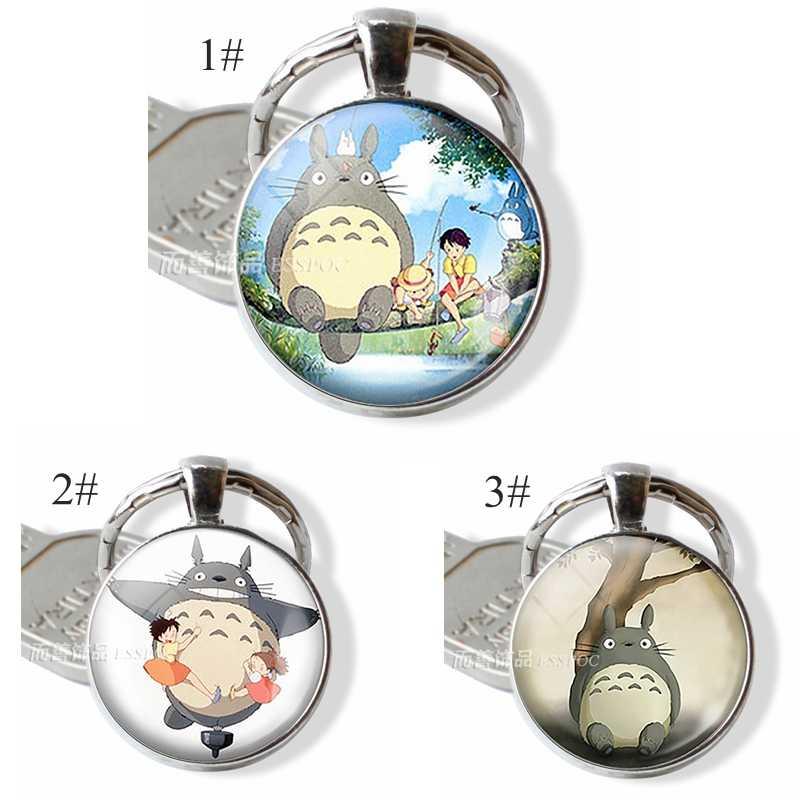 Аниме Манга металлический брелок Мой сосед Тоторо стеклянный купольный кабошон студия Ghibli Satsuki Mei Tatsuo Yasuko Catbus брелок подарок