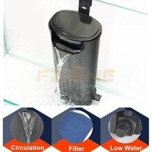 5 Вт пластиковый внутренний фильтр для аквариума с низкой водой, подвесной фильтр для аквариума с водопадом, циркуляция воды для аквариума для рыб, черепах, рептилий