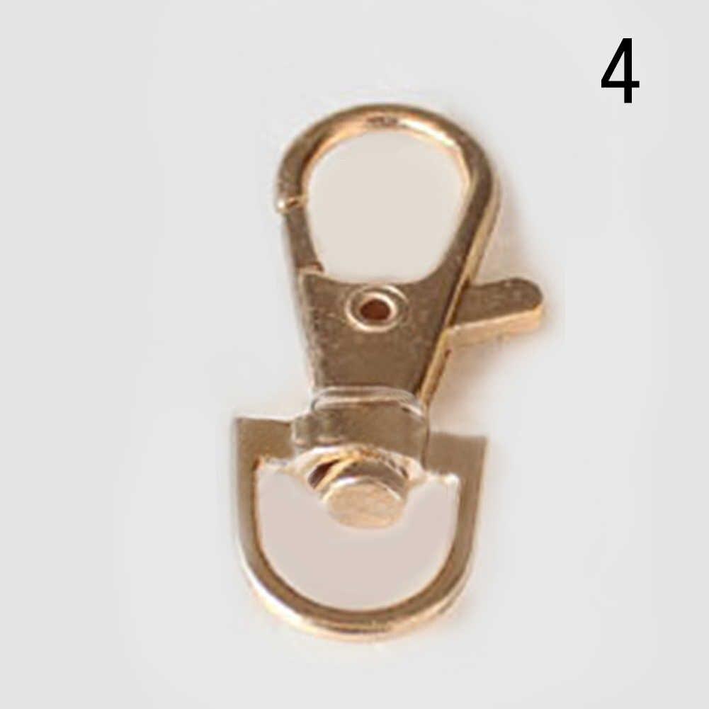 Unissex durável metal lagosta fecho chaveiro chaveiros mosquetão clipe estilo primavera saco cinta acessórios chaveiros para mulher