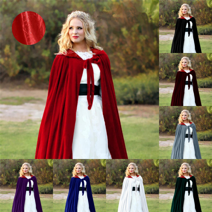8Color Women Medieval Cosplay Cloak Halloween Costumes for Woman Anime Wedding Bride Dress Court Noble Adult Long Robe