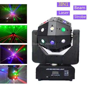 Strobe & Strahl & Laser 3IN1 LED Moving Head Lichter 16X3 watt RGBW LED Moving Head Strahl Bühne lichter DMX512 LED Fußball DJ Beleuchtung
